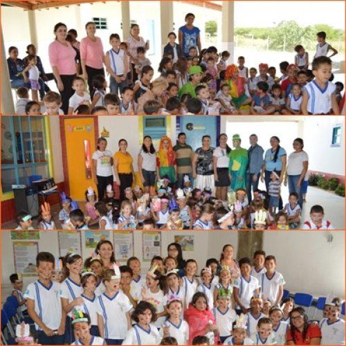 Escolas municipais comemoram o dia nacional do livro infantil e o dia do índio em Vila Nova