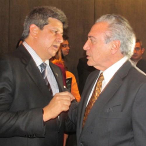 Michel Temer recebe Zé Filho em Brasília para reiterar apoio ao impechment