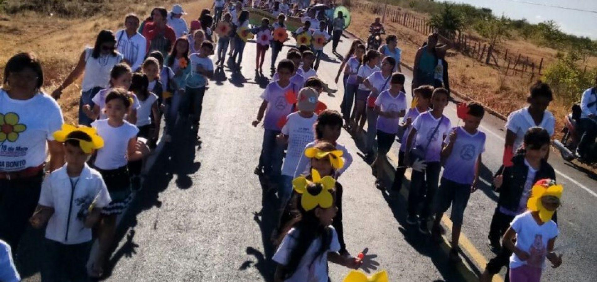 Jacobina do Piauí promove grande mobilização de Combate ao Abuso e Exploração de Crianças e Adolescentes