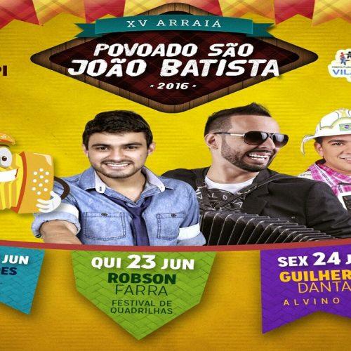 Prefeitura de Vila Nova anuncia atrações dos 15 anos do Arraiá São João Batista