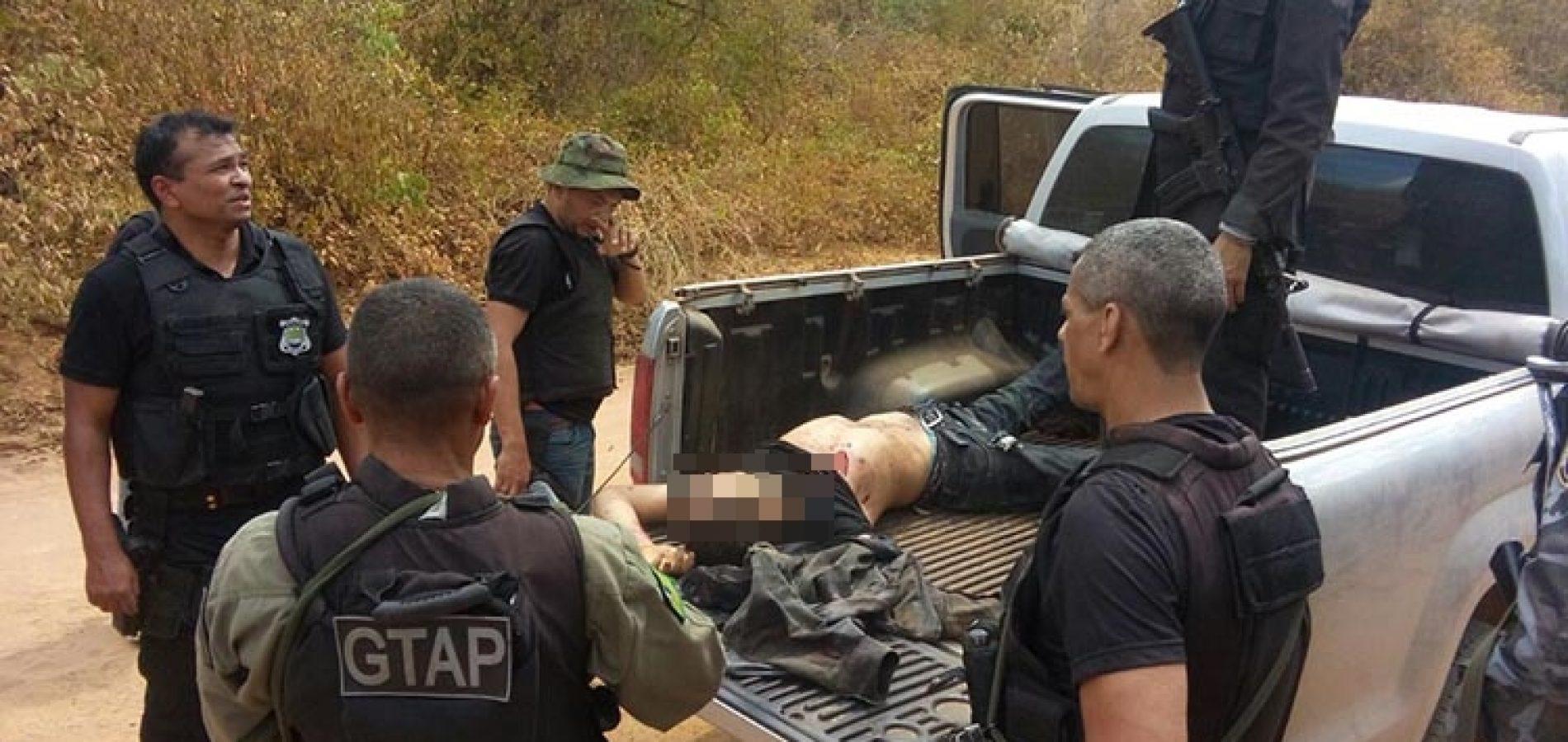 Quarto suspeito de explosão a banco de Curimatá morre em confronto com a polícia