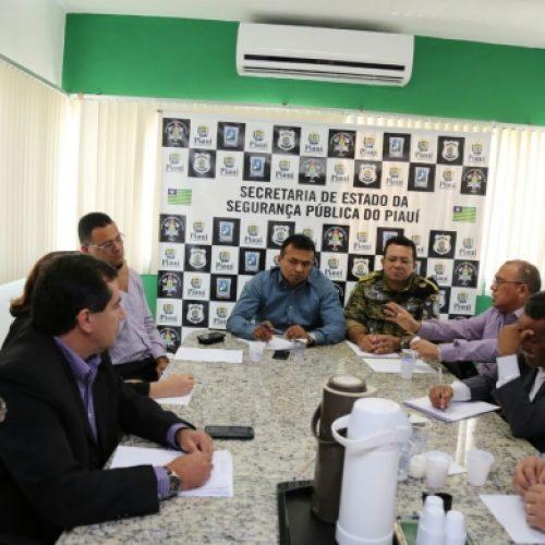Fábio Abreu reúne cúpula das Polícias Civil e Militar e traça novas estratégias