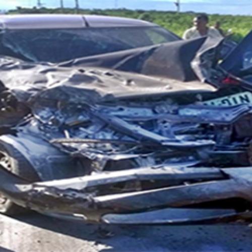 Palio fica com a dianteira destruída após acidente com picape na PI-213