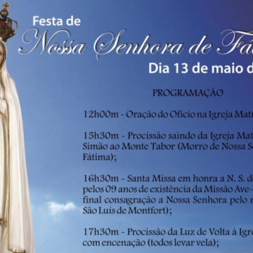 SIMÕES| Confira a programação para o dia 13 de Maio na Paróquia de São Simão
