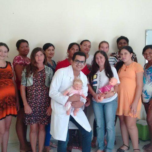 Fonoaudiólogo ministra palestra para gestantes em Massapê do Piauí
