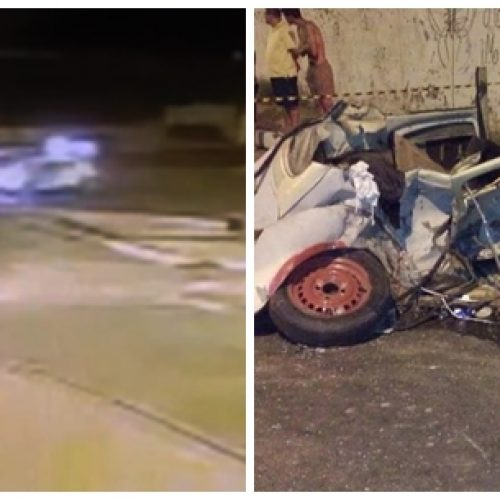 Vídeo mostra momento do acidente com integrantes do Salve Rainha