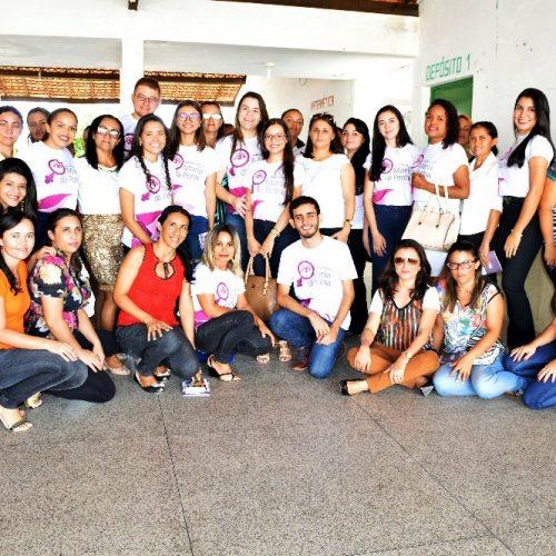 Alunos da Faculdade R. Sá apresentam projeto sobre Lei Maria da Penha em Vila Nova; Veja fotos