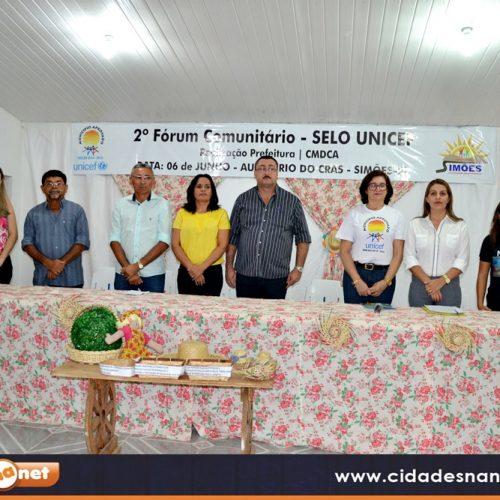 Simões realiza o II Fórum Comunitário do Selo Unicef  e apresenta conquistas