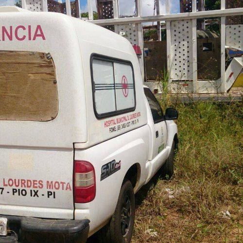 Ambulância do município de Pio IX é apreendida pela PRF em Teresina