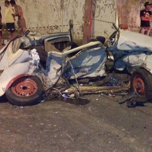 Carro pilotado por motorista bêbado marcava 160 km/h no momento do acidente, diz Ciptran