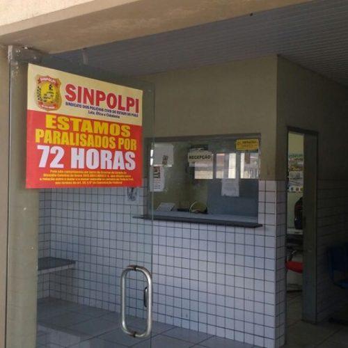 Mais de 80% dos policiais civis do Piauí estão parados, diz sindicato