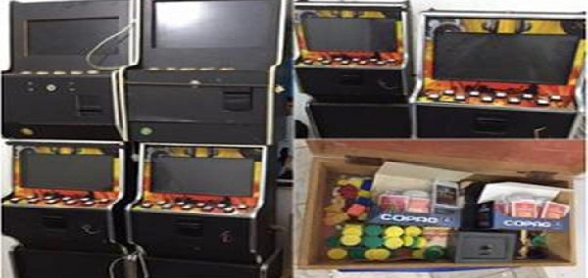 Policia apreendeu quatro máquinas caça-níqueis e jogos ilegais no Piauí