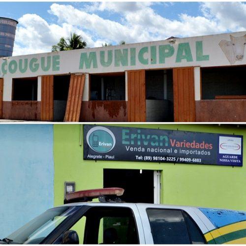 Bandidos armados assaltam açougue e loja de variedades em Alegrete do Piauí