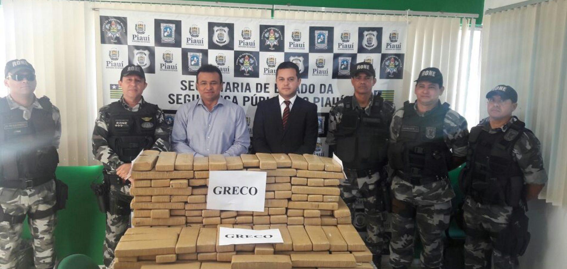 Durante o final de semana foram apreendidos 191kg de maconha no Piauí