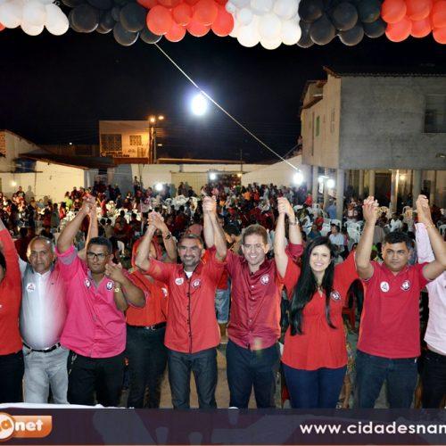Partidos homologam as candidaturas de Mávio e Zé Luiz para prefeito e vice em Jaicós; fotos