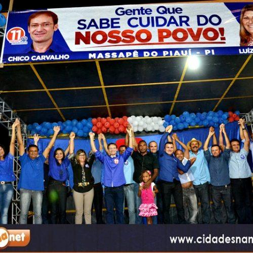 FOTOS | Convenção de Chico Carvalho e Luíza em Massapê