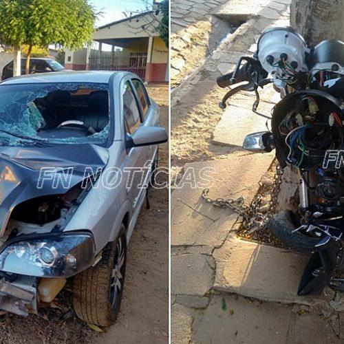 Acidente envolvendo carro e moto deixa um morto em Queimada Nova