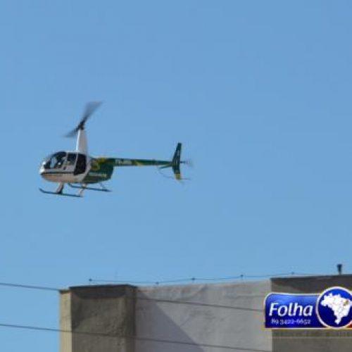 Helicóptero da PM chega a Picos para auxiliar no policiamento