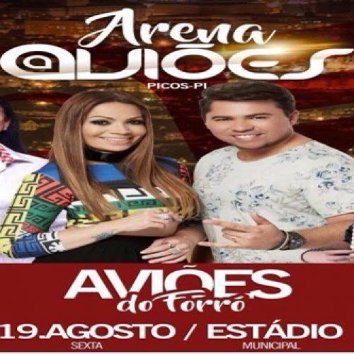 Show de Aviões do Forró acontece hoje no Estádio Municipal em Picos