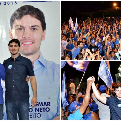Waldemar Neto e Roberval inauguram a 'Casa do 11' e iniciam campanha em Padre Marcos