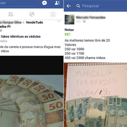 No Piauí, notas falsas são negociadas através do 'Facebook'