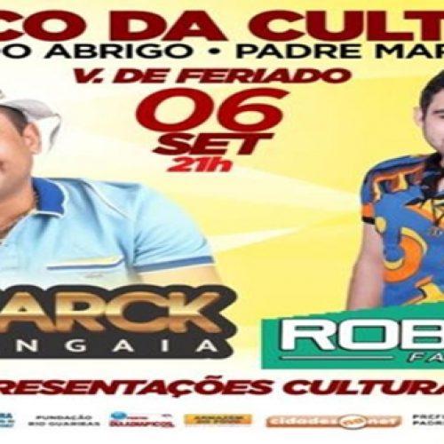 Palco da Cultura será realizado no município de Padre Marcos