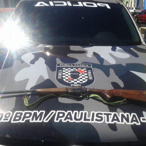 Força Tática de Paulistana recupera moto roubada e apreende arma de fogo