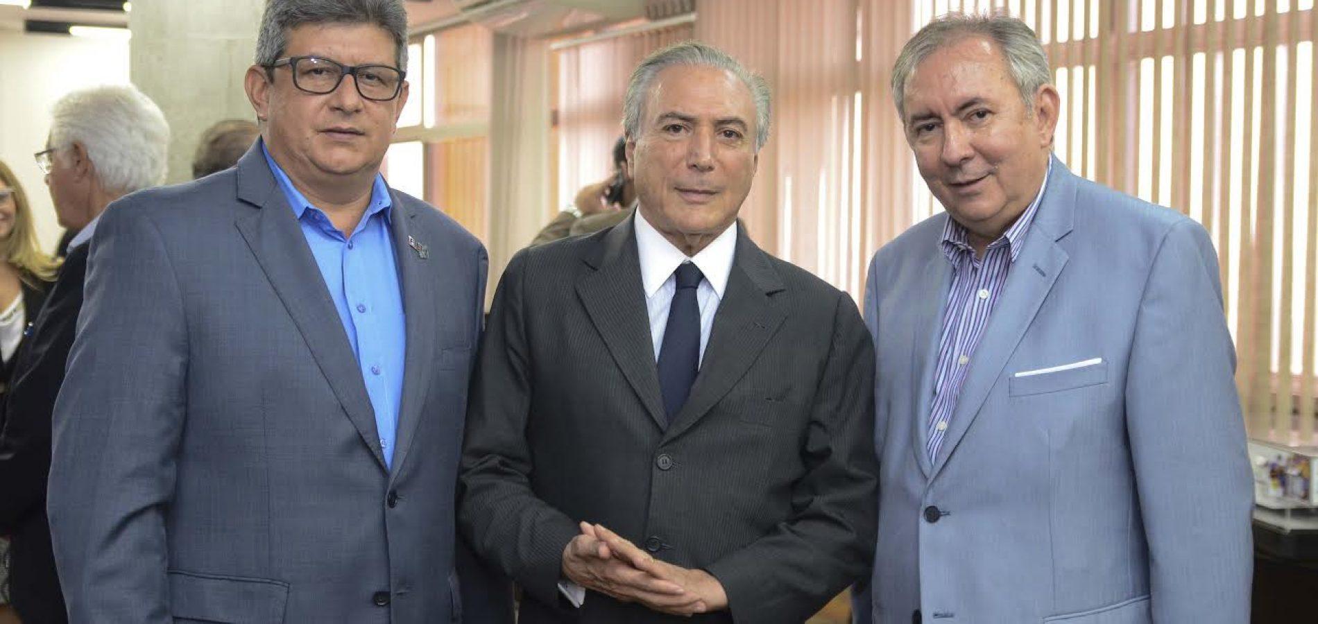 Zé Filho e João Henrique têm audiência marcada com Michel Temer