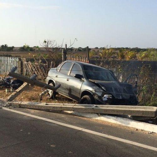 Acidente deixa uma criança morta e quatro pessoas feridas no Litoral do Piauí