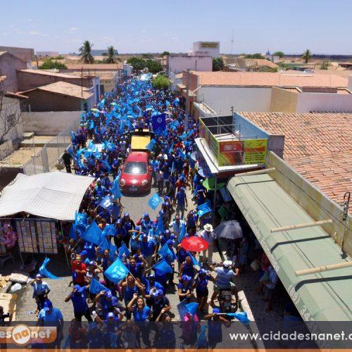 Dr. Waldemar realiza caminhada em Padre Marcos; Ciro Nogueira e Margarete Coelho manifestam apoio