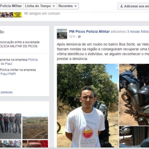 Polícias de Picos utilizam redes sociais como canal para denúncias