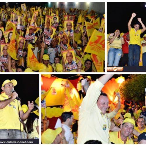 Edilson Brito e Antônio Tiago realizam grande comício em Vila do Piauí