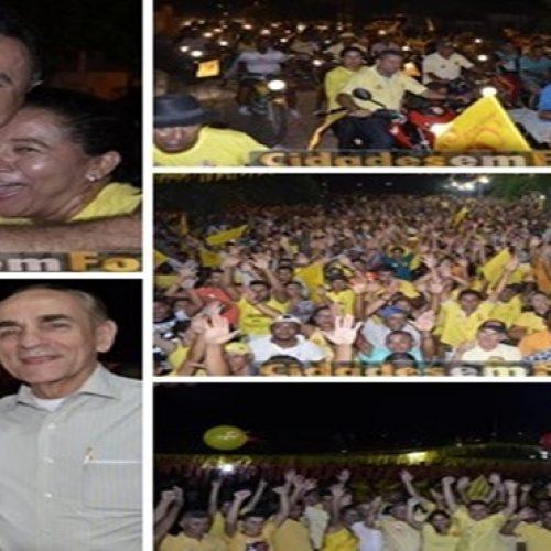 Multidão participa  do último comício de Agenilson e Saulino em Patos do Piauí. Veja!