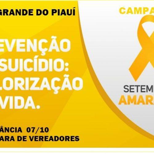 Setembro Amarelo: Campo Grande do Piauí realiza campanha de prevenção contra o suicídio e valorização da vida