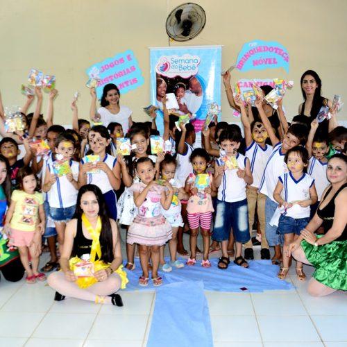 Atividades lúdicas fizeram parte do 3º dia da ' 5ª Semana do Bebê' em Vila Nova; Veja fotos