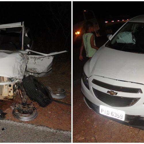 Colisão frontal deixa feridos e motorista preso nas ferragens entre as cidades de Padre Marcos e Francisco Macedo