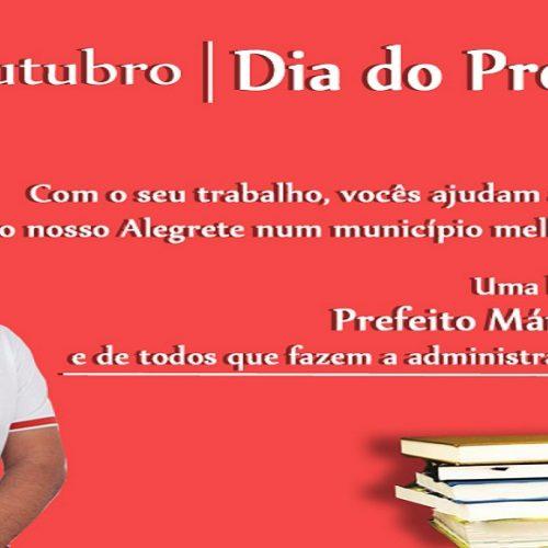 ALEGRETE | Em mensagem, prefeito Márcio Alencar homenageia todos os professores do município
