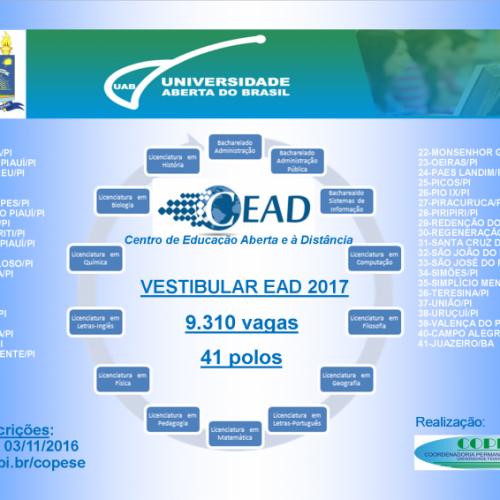 Vestibular para educação a distância da UFPI tem mais de 39 mil inscritos