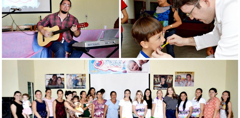 Diversas atividades marcam os dois primeiros dias da 5ª semana do bebê em Vila Nova
