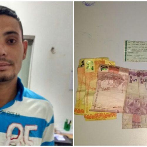 JAICÓS | Posto de combustíveis é assaltado e suspeito é preso pela polícia