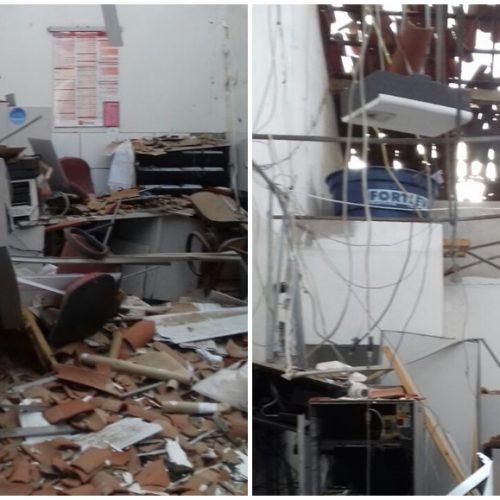 Bandidos explodem caixa do Bradesco em Monsenhor Hipólito; veja fotos