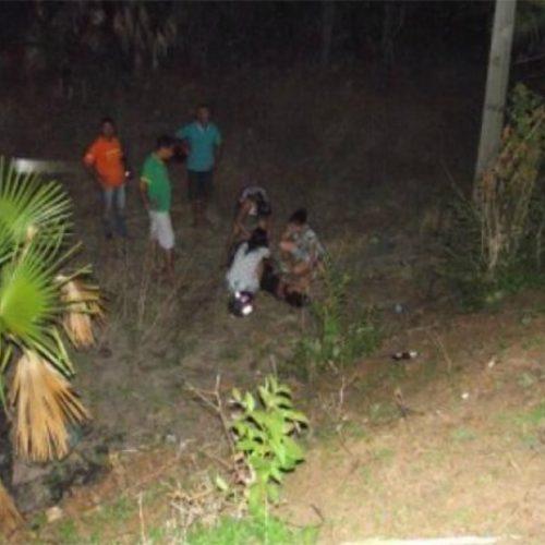 Grávida é assaltada e cai em ribanceira no interior do Piauí