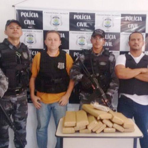 Motorista surta, entra na mata e abandona carro com 30 kg de maconha no Piauí