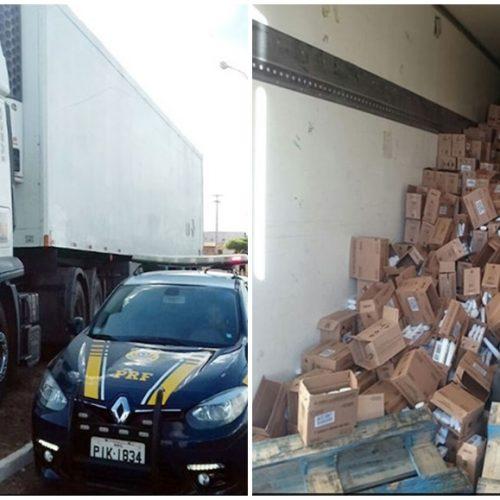 Caminhão roubado no Maranhão é preso em Picos com carga roubada avaliada em R$ 1,5 milhão