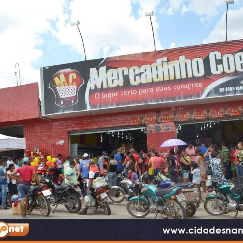 Mercadinho Coelho sorteia moto, outros 24 prêmios e distribui brindes para clientes em Jaicós. Veja os ganhadores!