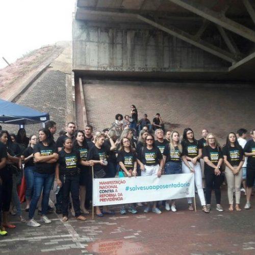 Advogados fazem protesto no Piauí contra reforma da previdência