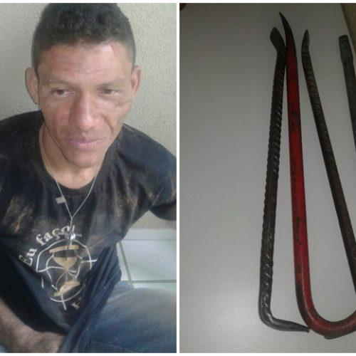 Populares amarram acusado de furto e o entregam a polícia em Picos