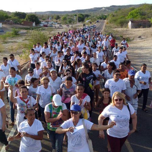 Igreja Católica realiza a 6ª Caminhada da Paz em Alagoinha do Piauí