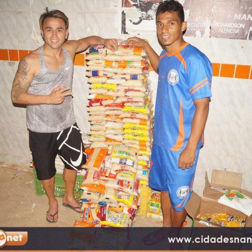 FOTOS | Jogadores profissionais Jabá e Mateus realizam 2º jogo Beneficente em Simões Piauí
