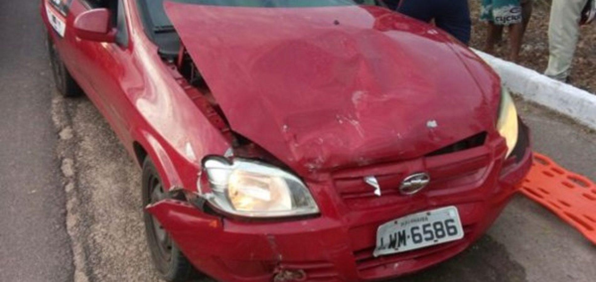 Menor de idade que conduzia carro causa acidente em BR